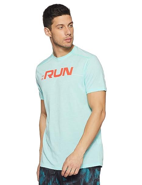 8587c729 Amazon.com: Under Armour Men's Run Front Graphic T-Shirt: Clothing