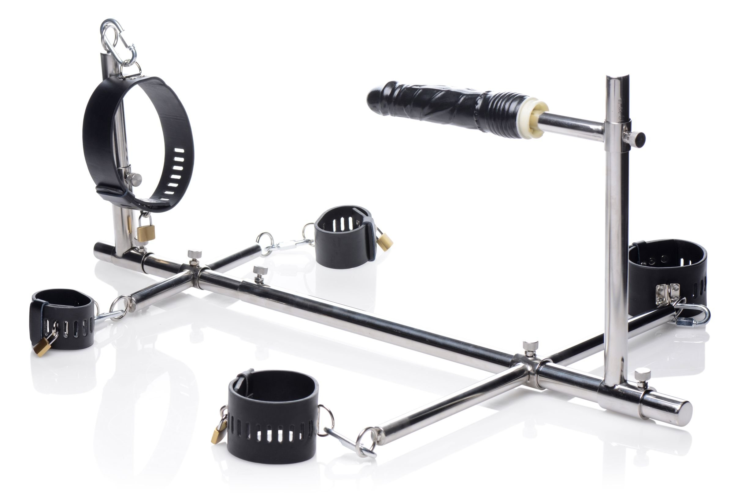 Master Series Stuck and Stuffed Stockade with Dildo by Master Series