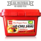 "Hot Red Chili Pepper Paste, Korean Traditional Essential Seasoning Sauce ""Go Chu Jang"", gochujang [Wang Food], Cholesterol Free Fat Free All Natural No MSG Added, 17.6 oz 500g, Made in Korea"