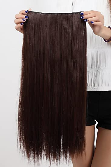 Amazon 30 inches straight one piece clip in hair extensions 30 inches straight one piece clip in hair extensions medium brown clip ins hairpiece pmusecretfo Choice Image