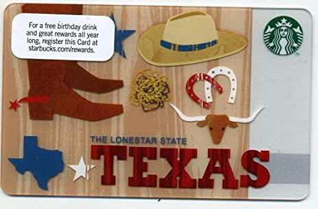 Amazon.com : Starbucks Texas Lone Star State Local Gift Card New ...