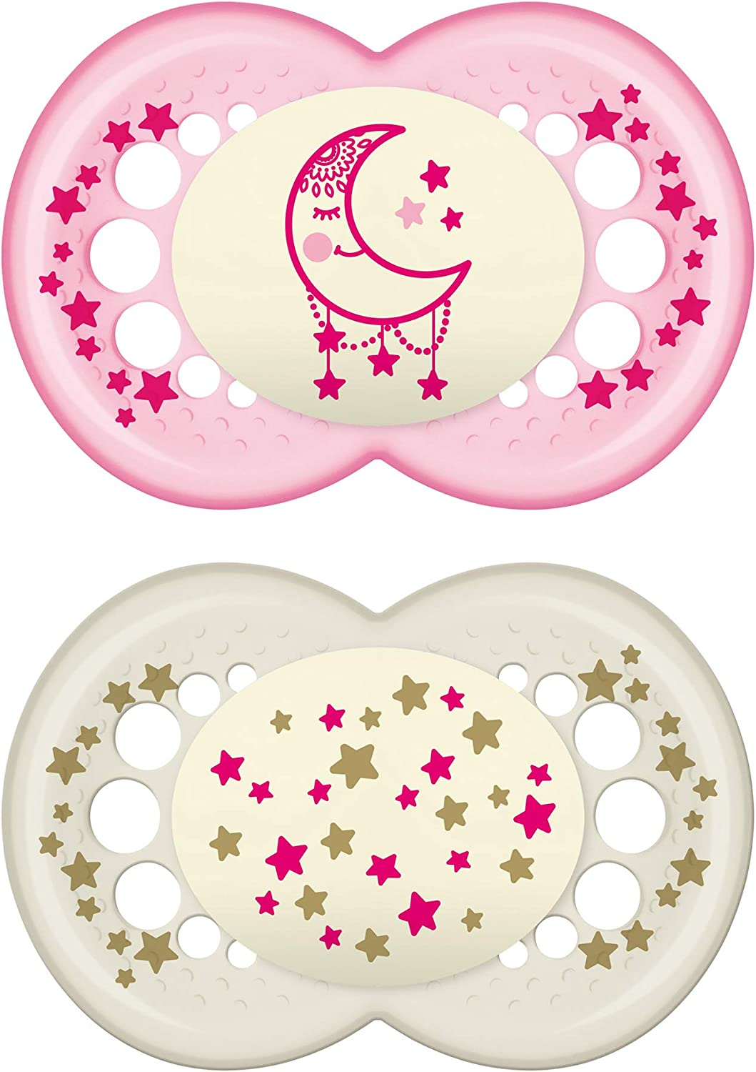 Boy 2-Count MAM Glow In the Dark Pacifiers Best Pacifier for Breastfed Babies Night/' Design Collection Baby Pacifier 6+ Months