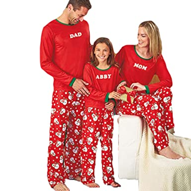 family matching pajamas christmas snowman sleepwear abby mon dad pjs sets sleepwear at amazon womens clothing store - Matching Pjs Christmas