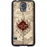 Harry Potter Inspired Marauders Map Samsung Galaxy S5 Case By Little Brick Press (Hard Silicone Rubber Case)