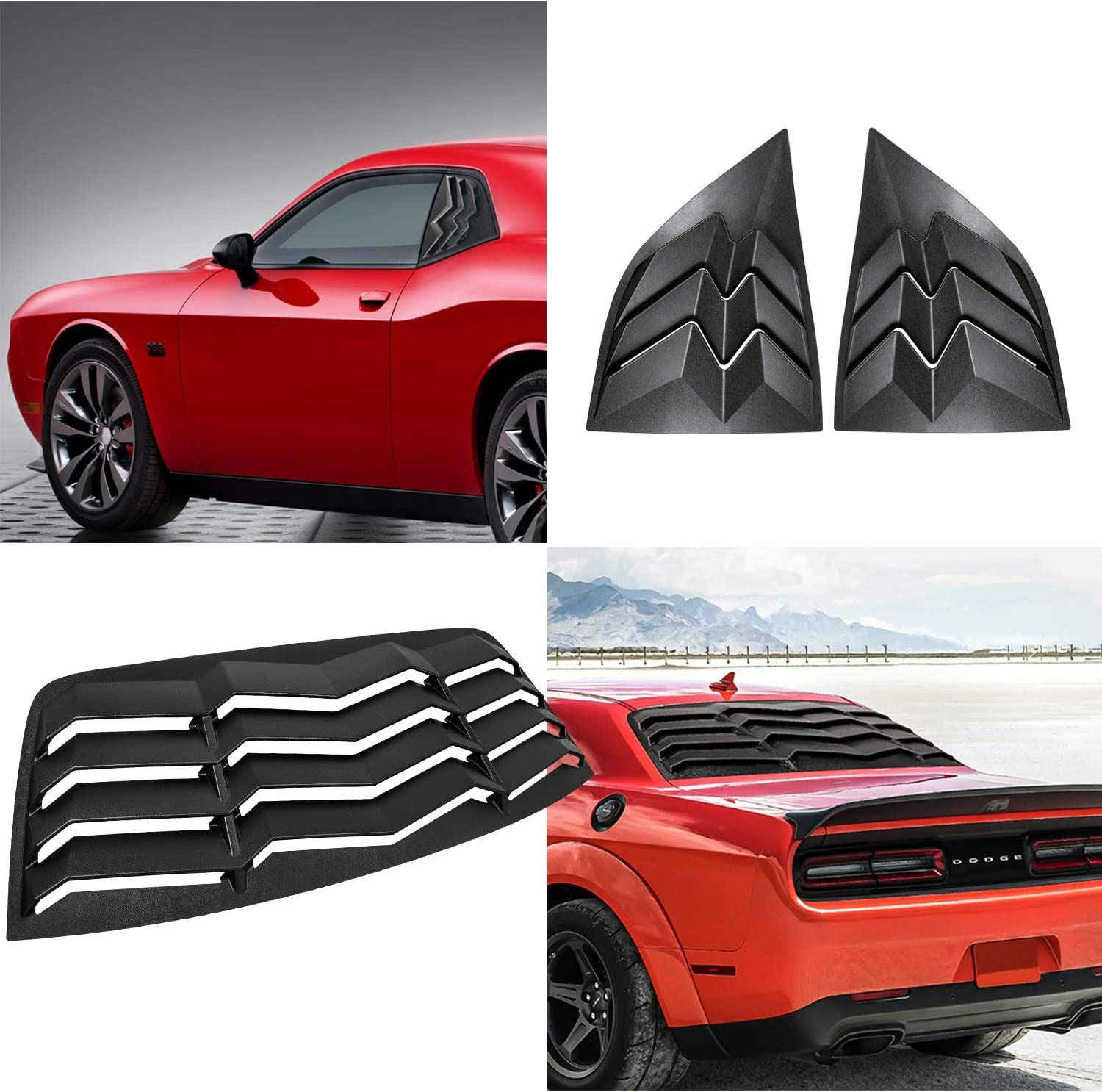Exterior Accessories Side Window Louver Windshield Sun Shade Cover ...