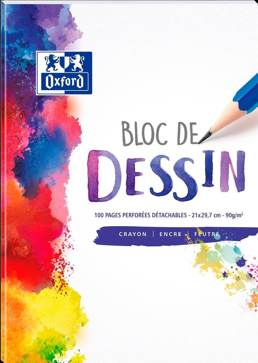 Blocs-notes Universel, Uniforme, A4, Mat, 90 g//m/², Papier Oxford 400084903 bloc-notes A4