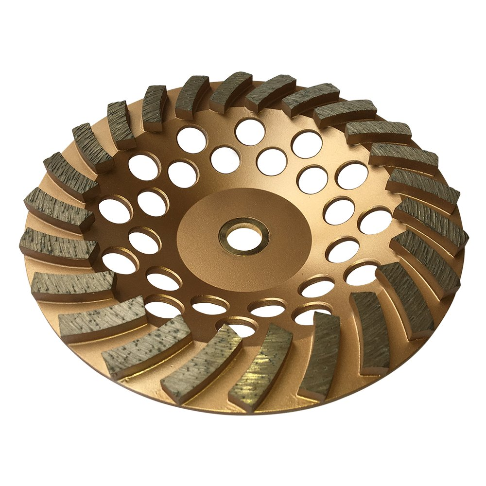 Grinding Wheels for Concrete and Masonry Available from 4 to 7 Inches - 7'' Diameter 24 Turbo Diamond Segments 7/8''-5/8'' Arbor by EDiamondTools