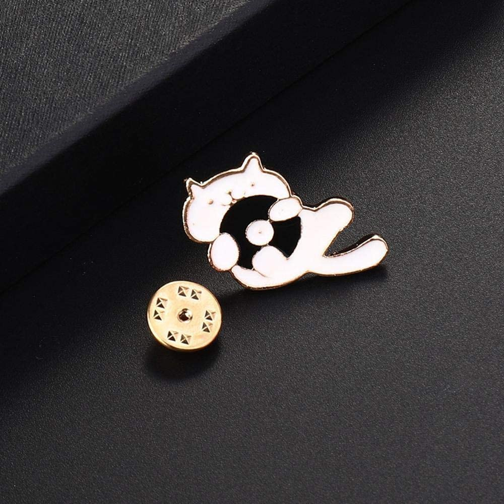 Gquan Mens Brooch Brooch Drop Oil cat Neck Brooch Ladies Accessories
