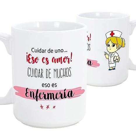 Taza de desayuno original para regalar a trabajadores profesionales - Regalo para enfermeras - Cuidar de uno eso es amor, cuidar de muchos eso es ...
