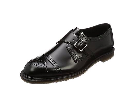 Dr. Martens Cobden Black Polished Smooth Scarpe Stringate Brouge Uomo 1e75007abf0