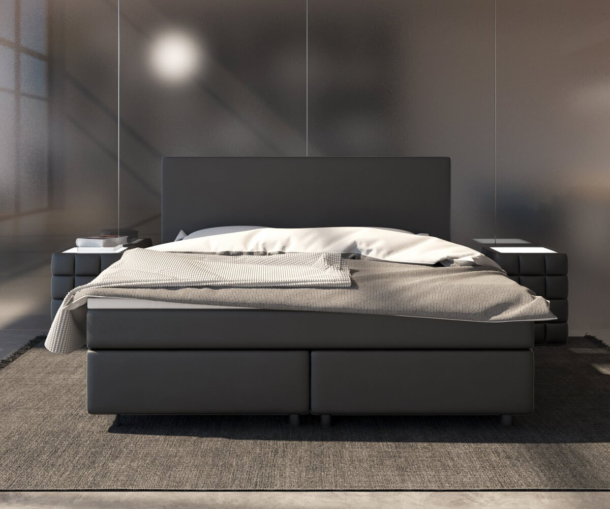 Amazon.de: DELIFE Bett Cloud Schwarz 180x200 cm Kingsize Matratze ...
