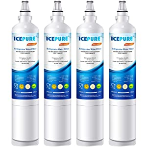 ICEPURE LT600P Replacement for Refrigerator Water Filter, Compatible LG LT600P, 5231JA2006A, 5231JA2006B, KENMORE 46-9990, 9990, 469990, RWF1000A 4 PACK