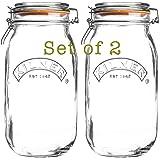 2 x Kilner Cliptop 0025.493 Jar Reserve Jar Round 2 Litres