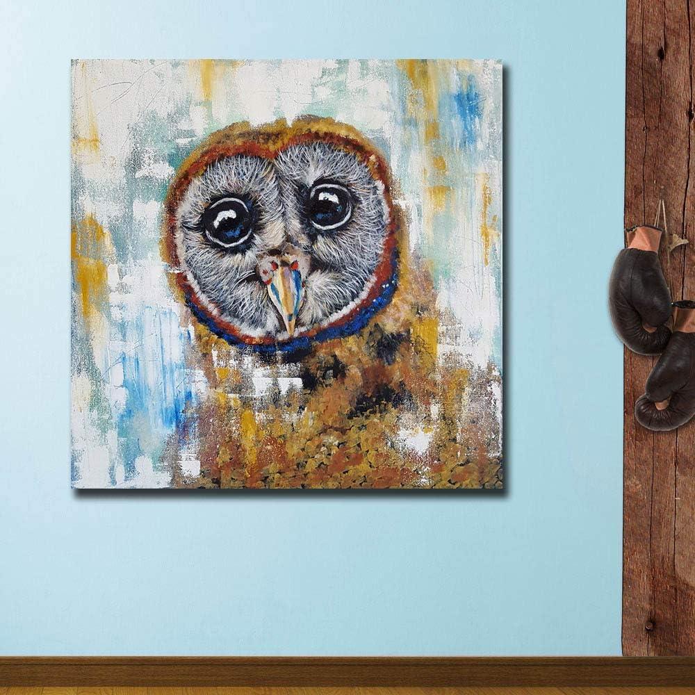 YHZSML Pintura de la Lona Decoración para el hogar 1 Pieza/Piezas Cute Animal Owl Imágenes para Sala de Estar Impresiones Modernas Cartel Abstracto Arte de la Pared E 30cmx30cmx1