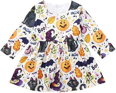 FELZ Vestidos niña, Bebés Infantiles Vestido Estampado de Animales ...