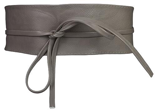 Cintura fusciacca in pelle da donna grigio