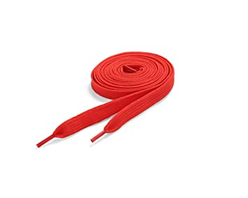 1653f9cbf9ea2 Flat Colored Skate Shoelaces - NEON RED 11mm x 120cm
