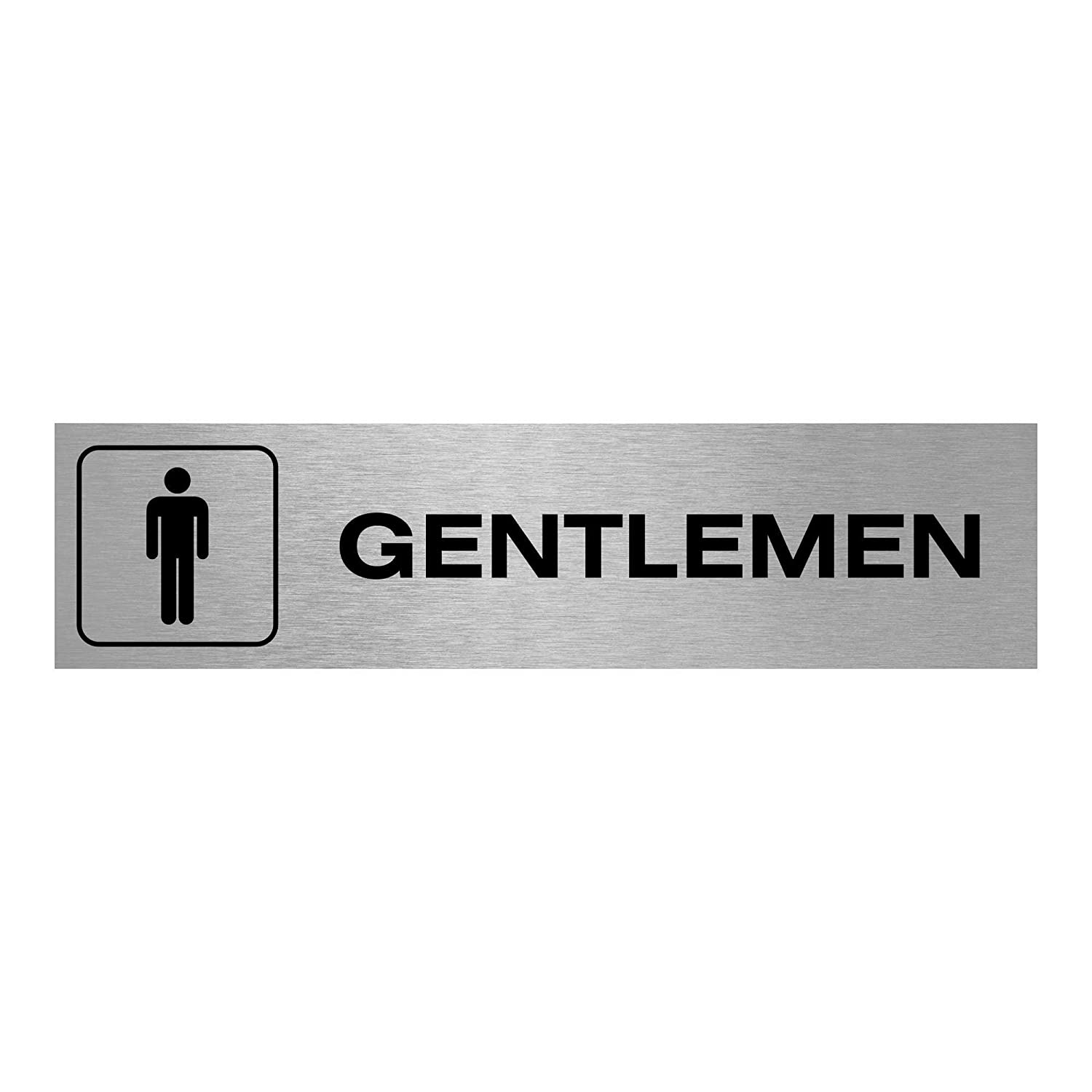 Slimline Aluminium Ladies Gentlemen Symbol Toilet Signs | Various Sizes & Designs Available | Made in the UK … (200x50mm Twin Pack) Viro Display