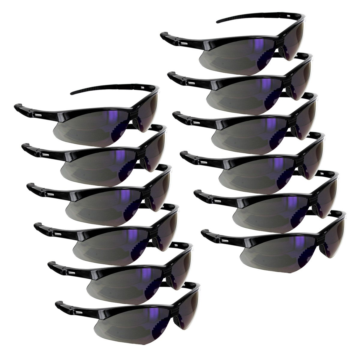 Rugged Blue Mojave Safety Glasses (Blue Mirror Case of 12) by Rugged Blue