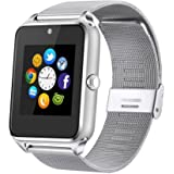 Smart Watch, JIUXI Bluetooth Replaceable Band Sweatproof Smartwatch with Touch Screen / Handsfree Call /