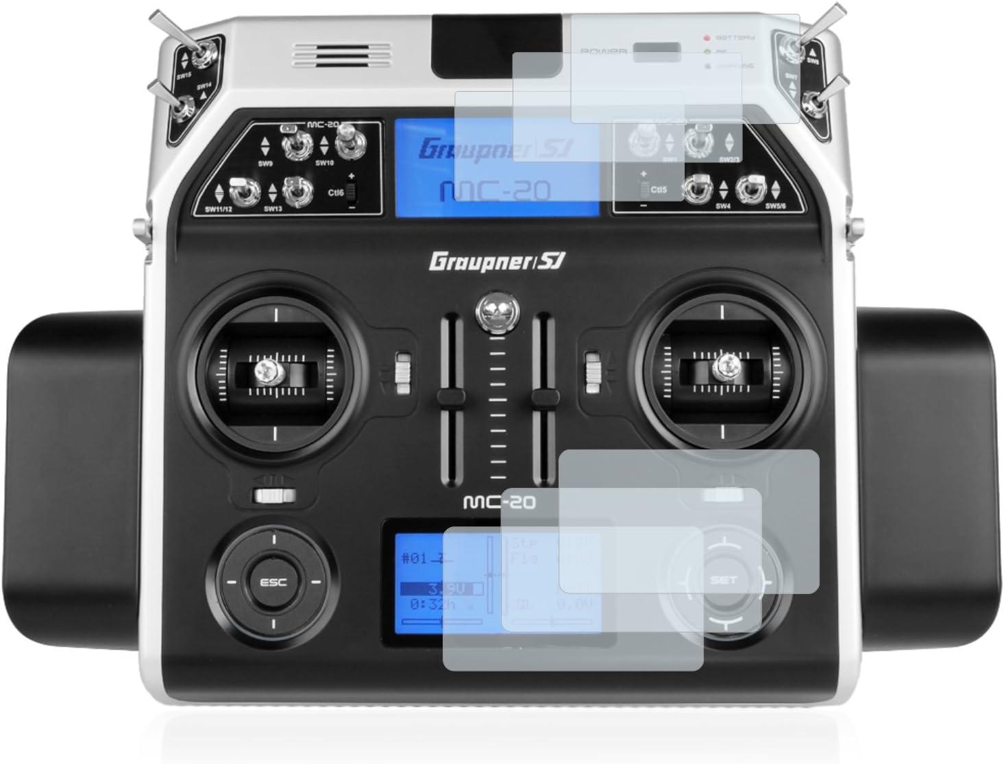 2x Display Schutz Folie für Graupner MC-20 HoTT Matt Entspiegelt