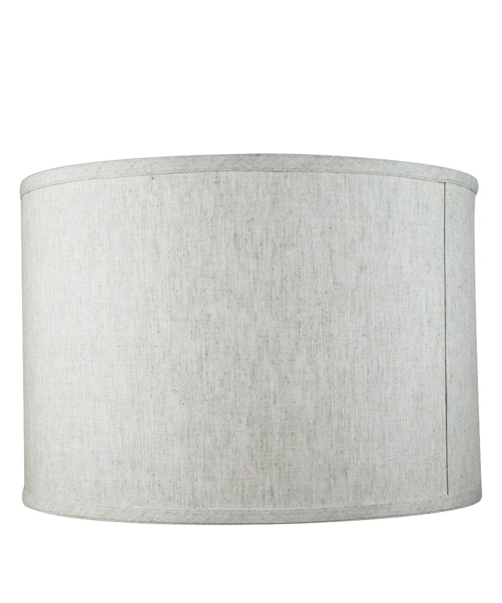 16x16x11 Shallow Drum Lampshade Textured Oatmeal with Brass Spider Fitter by Home Concept - Perfect for Table and Floor Lamps - Large, Textured Oatmeal