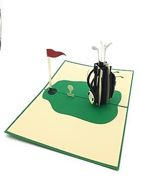 Tarjeta desplegable para amantes y aficionados al golf Para ...