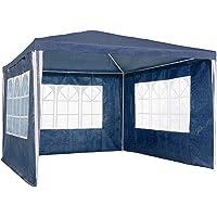 TecTake 800105 - Carpa 3x3 m con 3 Paneles Laterales, Montaje rápido, Plegado ocupa Poco Espacio (Azul | no. 400933)