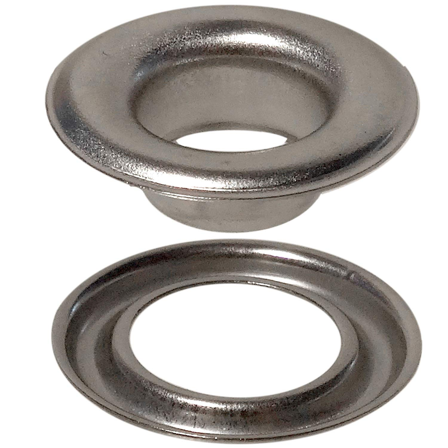 Stimpson Self-Piercing Grommet and Washer Stainless Steel 304 Reliable, Durable, Heavy-Duty #2 Set (500 pieces of each) by Stimpson Co., Inc