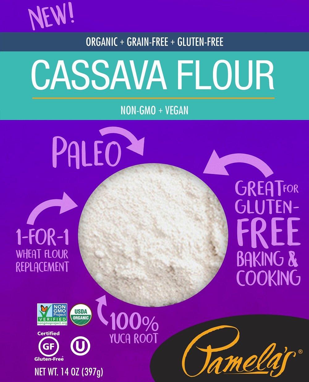 Pamela's Products Organic Cassava Flour, Grain Free and Gluten Free Paleo Flour, 14 Oz, 6 Count by Pamela's Products