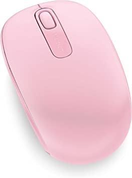 Microsoft – Wireless Mobile Mouse 1850 Rosa Claro
