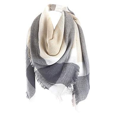 selezione migliore 17b9a 0b723 Hishiny Tartan grande sciarpa scialle moda donna Stola Plaid ...