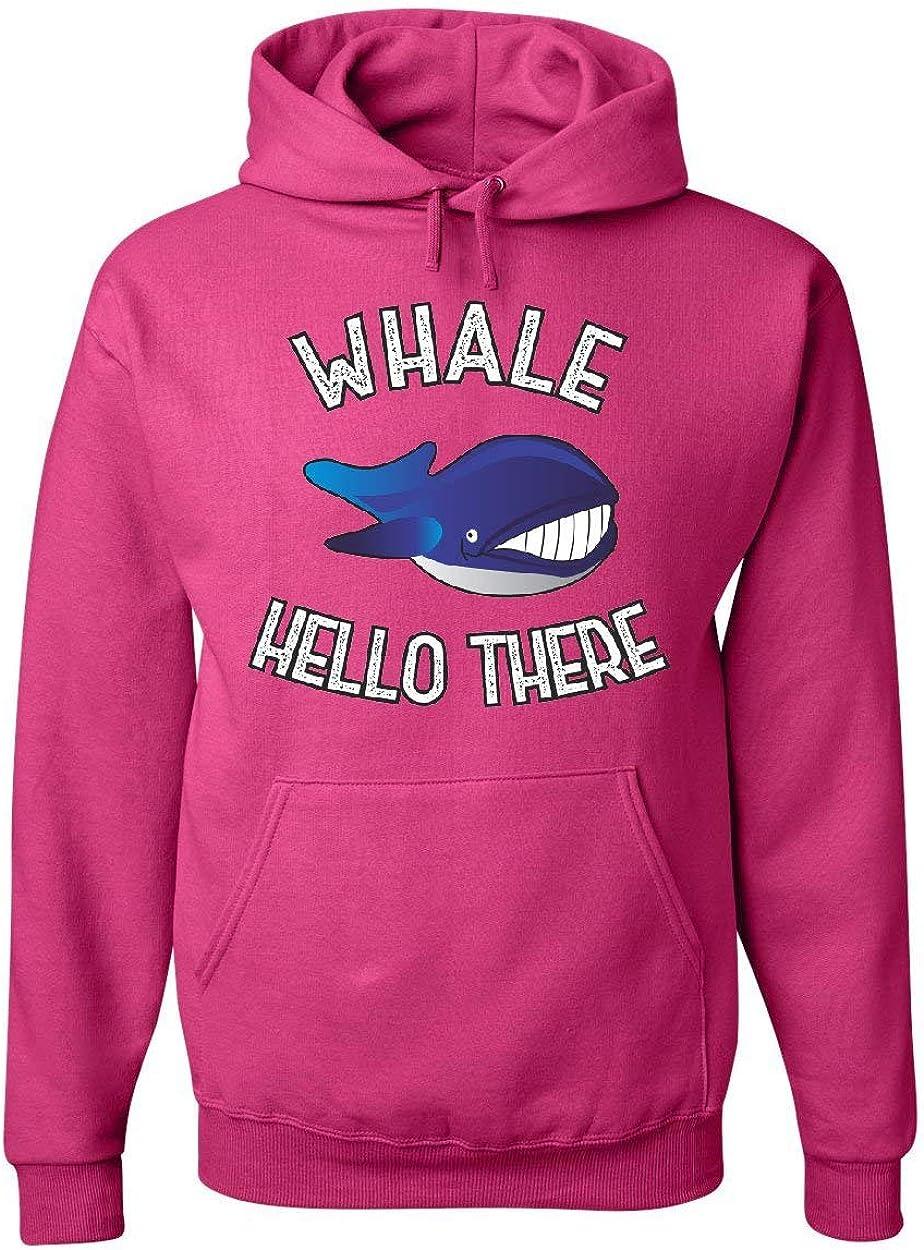 Whale Hello There T-Shirt Funny Wildlife Ocean Cute Pun Wordplay Mens Tee Shirt