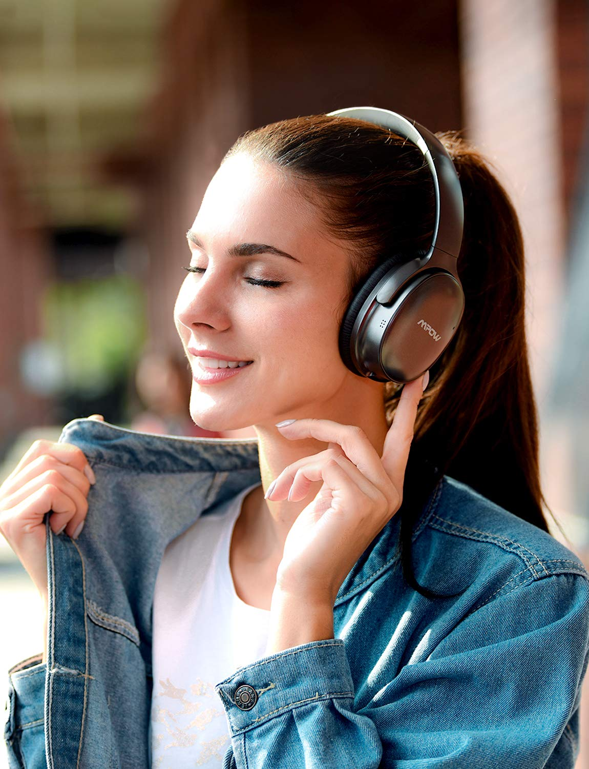 Mpow H10 [2019 Edition] Dual-Mic Active Noise Cancelling Bluetooth Headphones, ANC Over-Ear Wireless Headphones with CVC 6.0 Microphone, Hi-Fi Deep Bass, Foldable Headset for Travel/Work by Mpow (Image #6)