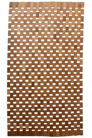 tapis de salle de bain caillebotis de salle de bain en bambou 52 x 80 - Caillebotis Salle De Bains