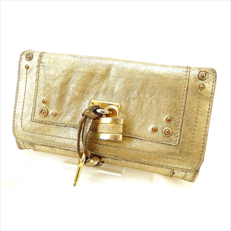[クロエ] Chloe 二つ折り財布 レディース バティントン 中古 Y1811 B0772Q4XJ4