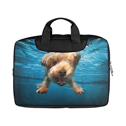 5fd13a60a55b Funny Cute Puppy Dog underwater Laptop Notebook Handle Sleeve Bag Case  Cover for 13 inches MacBook Pro(Twin Sides Printing)