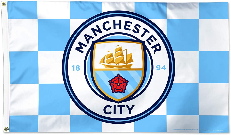 Checkered Flag 3x5 Manchester City F.C WinCraft Manchester City F.C Flag 3x5
