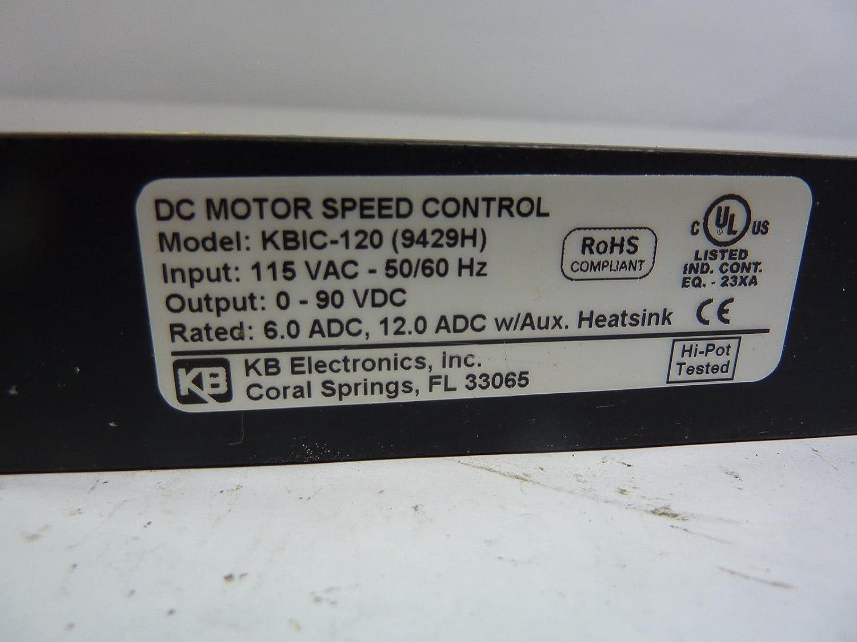 KB KBIC-120 DC Motor Speed Control T38972: Amazon.com: Industrial ...