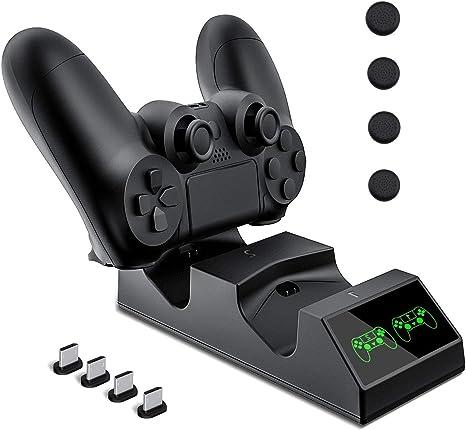 Cargador Mando PS4, KNONEW PS4 Estación de carga USB Base de Carga ...