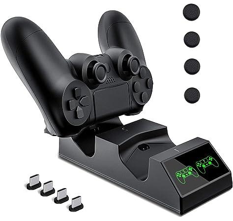 Cargador mando PS4, Tiancai Dual USB cargador para ...
