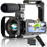 Video Camera 4K Camcorder, 56MP 30FPS IR Night Version WiFi Vlogging Camera 3.0 Inch Touch Screen 18X Zoom Digital Camera You