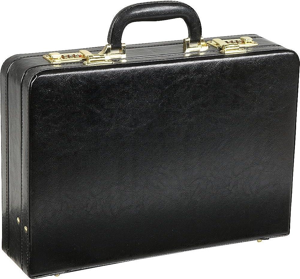 Amerileather Expandable Executive Faux Leather Attache Case (#2893-89)