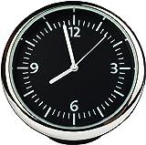 Txian Table Quartz Car Clock Small Round Onboard Quartz Clock Perfect Car Decoration ( 40x40x40mm )