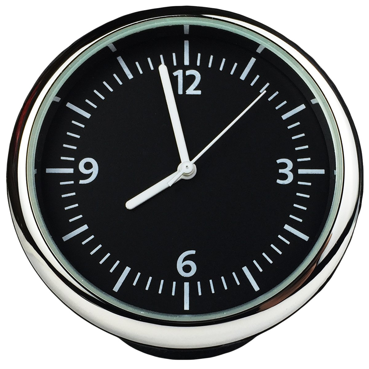 Txian Table Quartz Car Clock Small Round Onboard Quartz Clock Perfect Car Decoration ( 40x40x40mm )