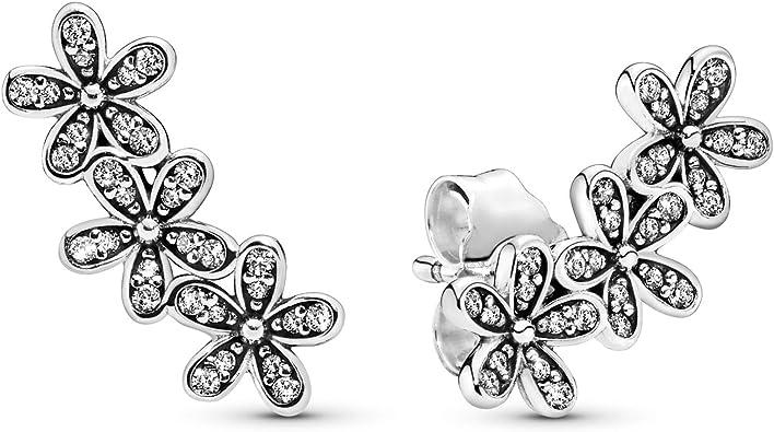 Pandora Pendientes de botón Mujer plata - 290744CZ: Amazon.es: Joyería