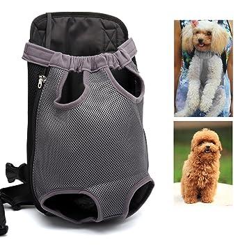 Kismaple Mascota Bolso del Portador del Perro Mochila Piernas afuera Mochila de Perro Ajustable para Mascotas
