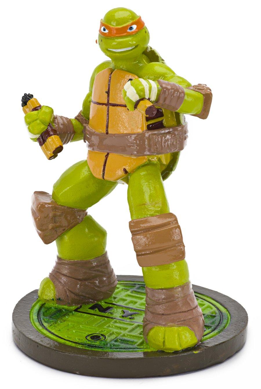 Penn-Plax Teenage Mutant Ninja Turtles Michelangelo Aquarium Ornament, Mini