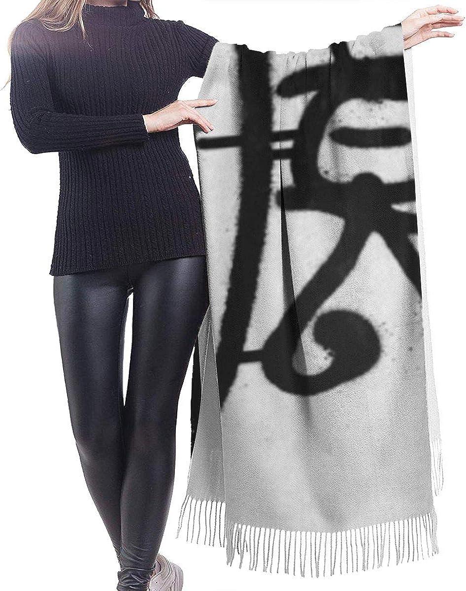 Grafitti Graffiti Tag Sprayed Leak In Black On White Vandalism Fashion Lady Shawls,Comfortable Warm Winter Scarfs Soft Cashmere Scarf For Women