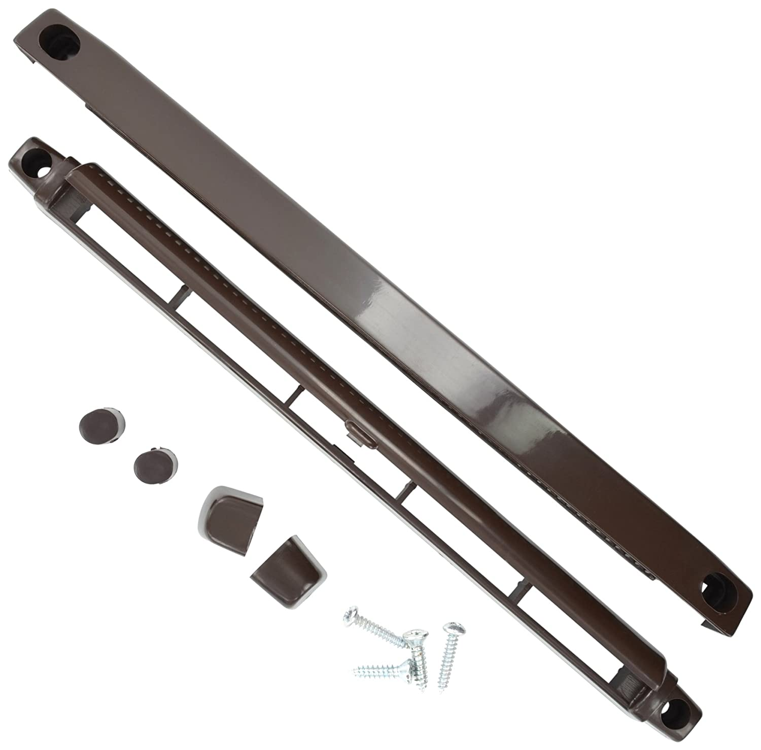 Bulk Hardware BH03174 Windows and Door Fully Adjustable Trickle Vent, 260mm (10.4 inch) - Brown